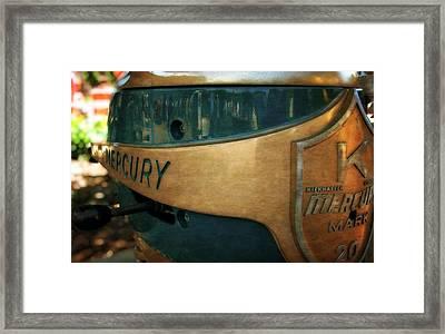 Mercury Mark 20 Outboard Motor Framed Print