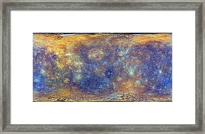 Mercury Framed Print by Nasa/johns Hopkins University Applied Physics Laboratory/carnegie Institution Of Washington