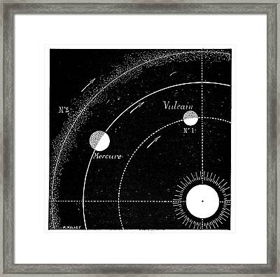 Mercury Orbit Hypotheses Framed Print