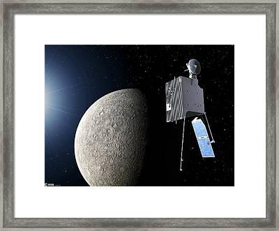 Mercury Planetary Orbiter Framed Print by Esa - P. Carril