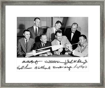 Mercury Seven Astronauts Framed Print by Nasa