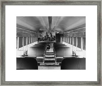Mercury Train Coach Interior Framed Print