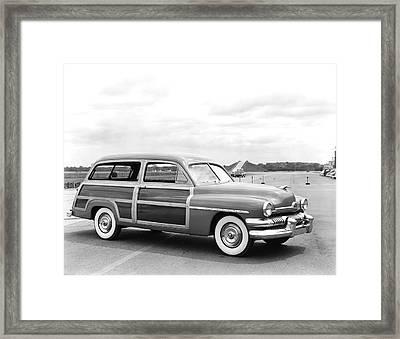 Mercury Woody Station Wagon Framed Print by Underwood Archives
