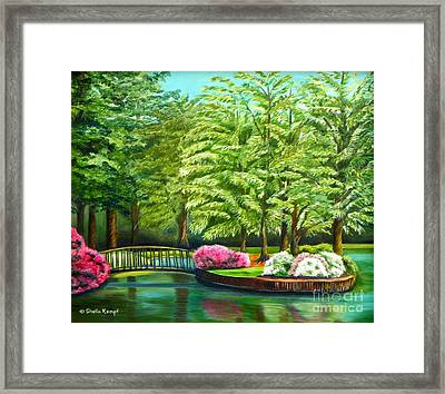 Meredith Lake - Meredith College - Raleigh Nc Framed Print