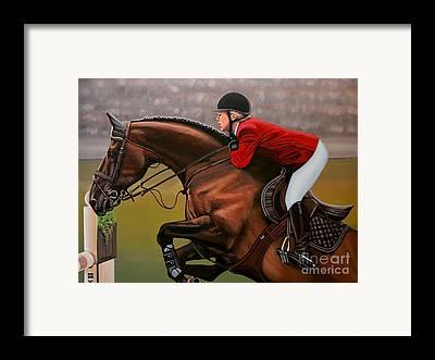 Red Horse Framed Prints