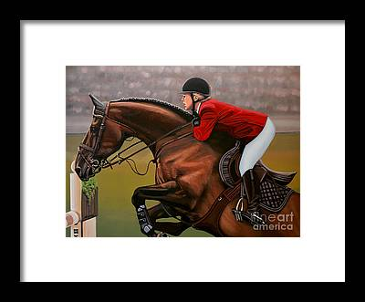 Brown Horse Framed Prints