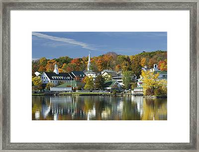Meredith Reflected Framed Print by Chris Cameron