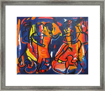 Merengue - Dance Framed Print by Marino Chanlatte