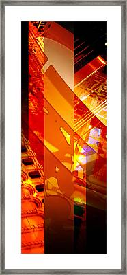 Merged - Arched Orange Framed Print by Jon Berry OsoPorto