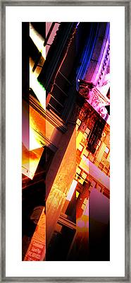 Merged - Arched Pink Framed Print by Jon Berry OsoPorto