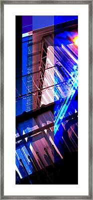 Merged - Blue Barbed Framed Print by Jon Berry OsoPorto