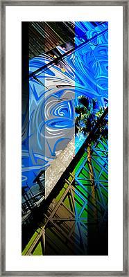 Merged - Painted Blues Framed Print by JBDSGND OsoPorto