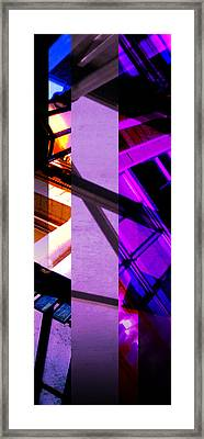 Merged - Purple City Framed Print by Jon Berry OsoPorto