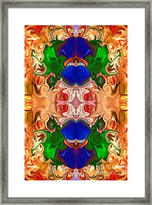 Framed Print featuring the digital art Merging Consciousness With Abstract Artwork By Omaste Witkowski  by Omaste Witkowski