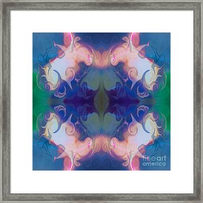 Merging Fantasies Abstract Pattern Artwork By Omaste Witkowski Framed Print by Omaste Witkowski