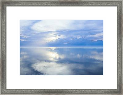 Merging Horizons Framed Print by Nila Newsom