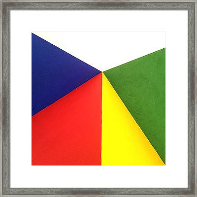 Merging Points Framed Print by Art Block Collections