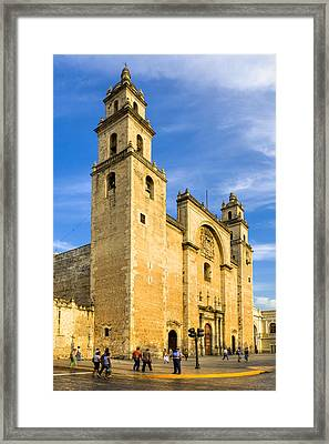 Merida Cathedral Bathed In Sunlight Framed Print