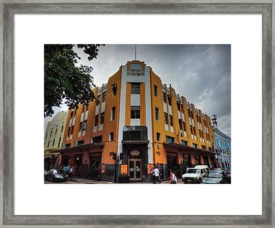 Merida Deco - Edificio La Nacional Framed Print