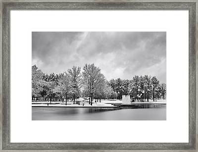 Meridian Parkway Winter Framed Print