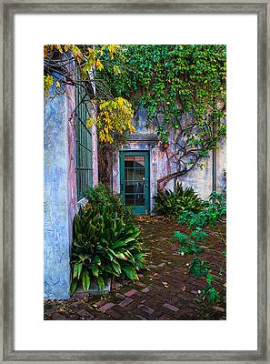Meridian Studios Courtyard Framed Print