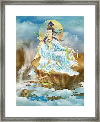 Framed Print featuring the photograph Merit King Kuan Yin by Lanjee Chee