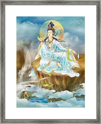 Merit King Kuan Yin Framed Print by Lanjee Chee