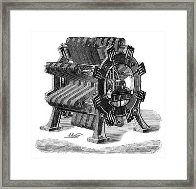 Meritens Magneto Generator Framed Print by Science Photo Library