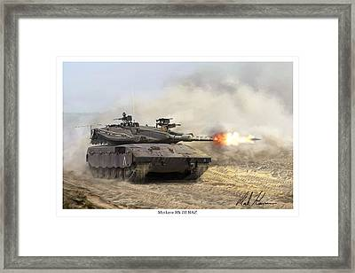 Merkava Mk IIi Baz Framed Print by Mark Karvon