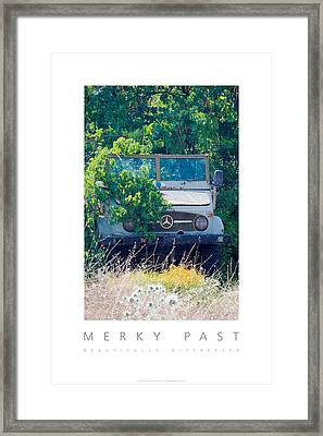 Framed Print featuring the digital art Merky Past Beautifully Distressed Poster by David Davies