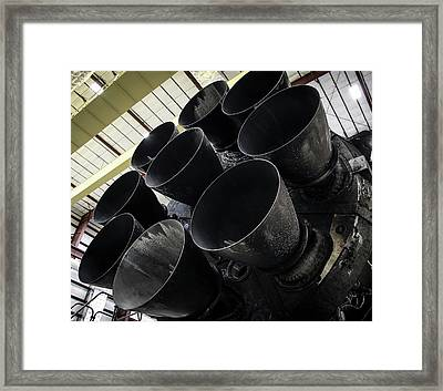 Merlin Engines On Falcon 9 Rocket From Spacex Framed Print by Spacex/science Photo Library