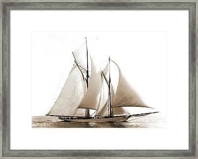 Merlin, Merlin Schooner, Commodore Gerry Cup Race Framed Print by Litz Collection