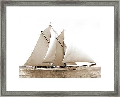 Merlin, Merlin Schooner, Yachts Framed Print by Litz Collection
