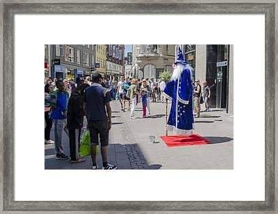 Merlin - Nyhavn Shopping - Copenhagen Denmark Framed Print by Jon Berghoff