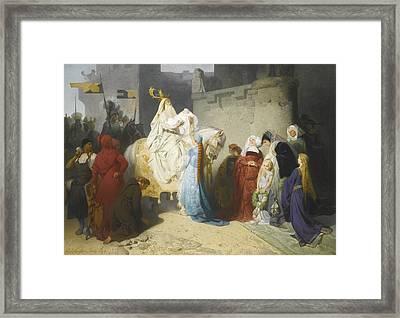 Merlin Presenting The Future King Arthur Framed Print