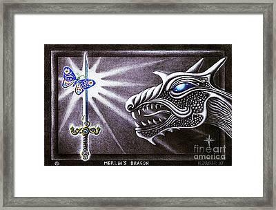 Merlin's Dragon Framed Print