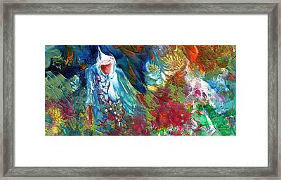 Merlins Magic World Framed Print by Miki De Goodaboom