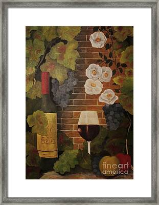 Framed Print featuring the painting Merlot For The Love Of Wine by John Stuart Webbstock