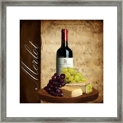 Merlot IIi Framed Print by Lourry Legarde