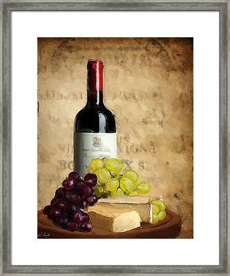 Merlot Iv Framed Print by Lourry Legarde