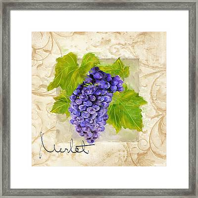 Merlot Framed Print by Lourry Legarde