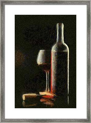 Merlot Red Wine Framed Print