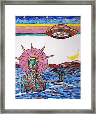Yemoja Ufo  Framed Print by Stormm Bradshaw