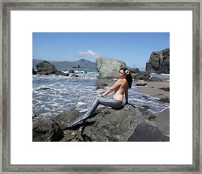 Mermaid At Lands End Framed Print