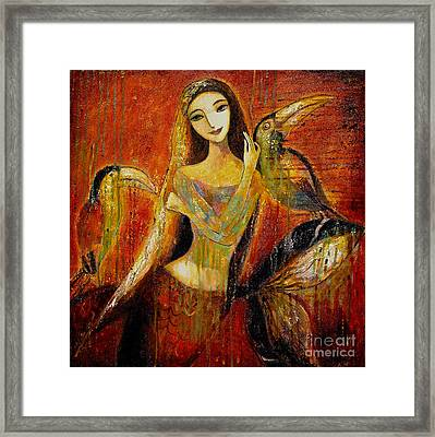 Mermaid Bride Framed Print by Shijun Munns