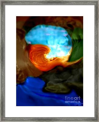 Framed Print featuring the mixed media Mermaid Cove by Steed Edwards