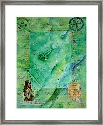 Mermaid Cove Framed Print