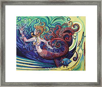 Mermaid Gargoyle Framed Print