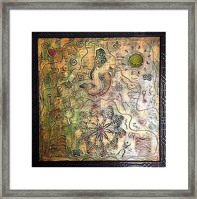 Mermaid Goddess By Alfredo Garcia Framed Print