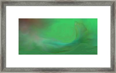Framed Print featuring the digital art Mermaid by Jessica Wright